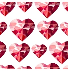 Seamless pattern with stylized diamond hearts vector image