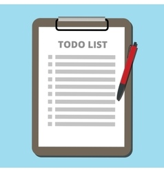 to do list concept tasklist with clipboard vector image vector image