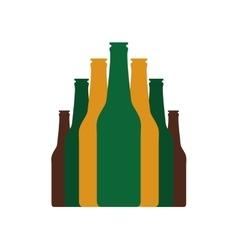 Bottles set flat icon vector image vector image