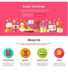 easter greeting website design vector image vector image