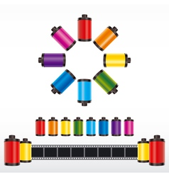 film roll color vector image