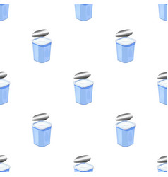Yogurt in the plastic cup icon in cartoon style vector