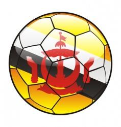 brunei flag on soccer ball vector image vector image