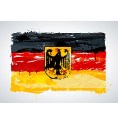 Grunge Germany national flag vector image
