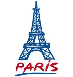 Paris Eiffel tower design vector image