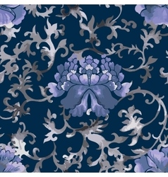 Seamless chinese pattern Watercolor style vector image vector image