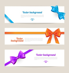 Set of card with gift bows vector image