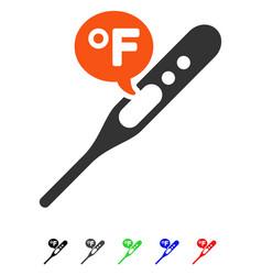 Fahrenheit temperature flat icon vector
