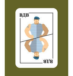 Playing card russian soldiers conceptual new card vector