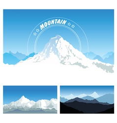 Snowy mountains vector image vector image