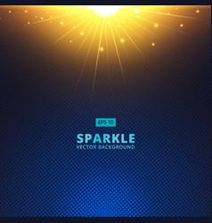 sparkle sunbeam on halftone vector image vector image
