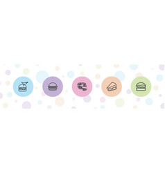 5 cheese icons vector