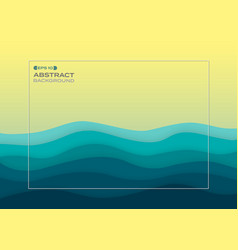 abstract background of blue paper cut summer sea vector image