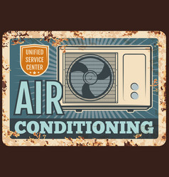Air conditioner rusty metal plate device vector