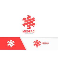 ambulance logo combination medic symbol or vector image