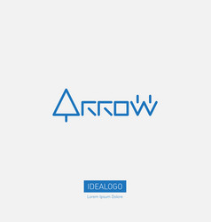 arrow - logotype original lettering with arows vector image