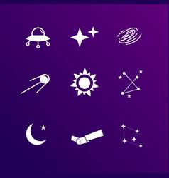 Astronomy icon set vector