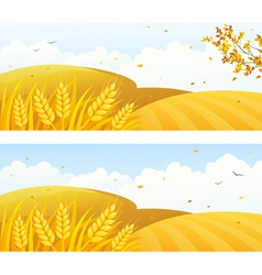 Autumn crop banners vector image