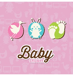 Bacard over pink background vector