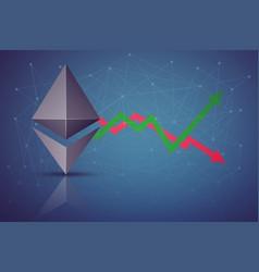 Background ethereum exchange trading vector