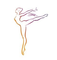 Ballerinas silhouettes vector
