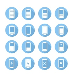 Battery web iconssymbolsign in flat style with vector image