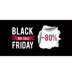 Black Friday sale design template Black Friday 80 vector image
