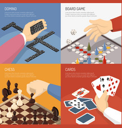 board games design concept vector image