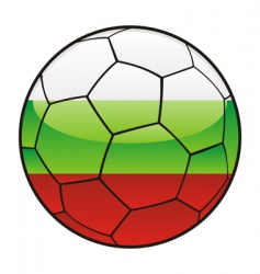 bulgaria flag on soccer ball vector image