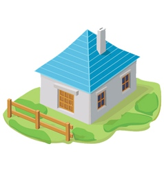cartoon house icon vector image