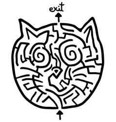 Cat maze vector