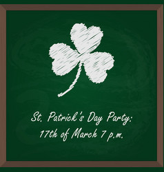 chalk board for st patricks party vector image