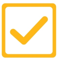 Checkbox icon from Business Bicolor Set vector image vector image