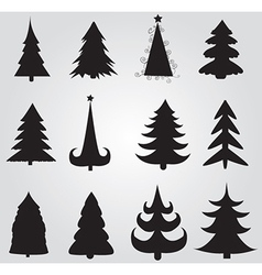 Christmas tree silhouettes vector