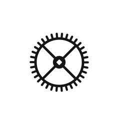 clock gear engine gear repair tool repair vector image