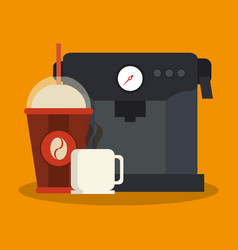 Coffee drink design vector