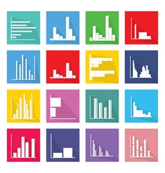 Collection of 16 bar chart icons banner vector