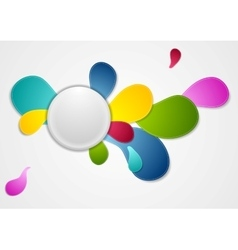 Colorful wavy drop shapes background vector