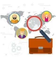 Concept employees search vector