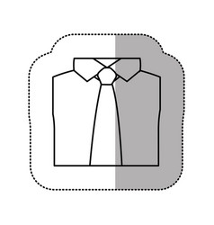 Contour tie with shirt icon vector