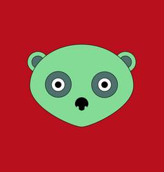 Cute panda face icon vector