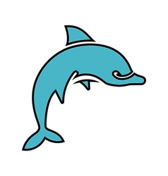 Dolphin Silhouette Outlined vector