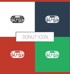 Donut icon white background vector