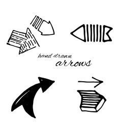 Doodle arrows set vector