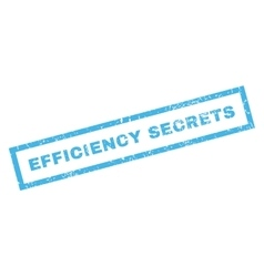 Efficiency Secrets Rubber Stamp vector