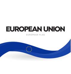 european union waving flag banner eu distinctive vector image