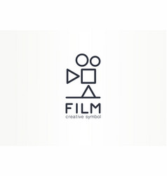 film movie industry creative symbol concept play vector image