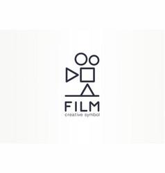 film movie industry creative symbol concept play vector image