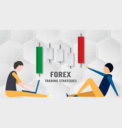 Forex trading strategy concept in paper cut and vector