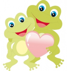 frogs with heart vector image